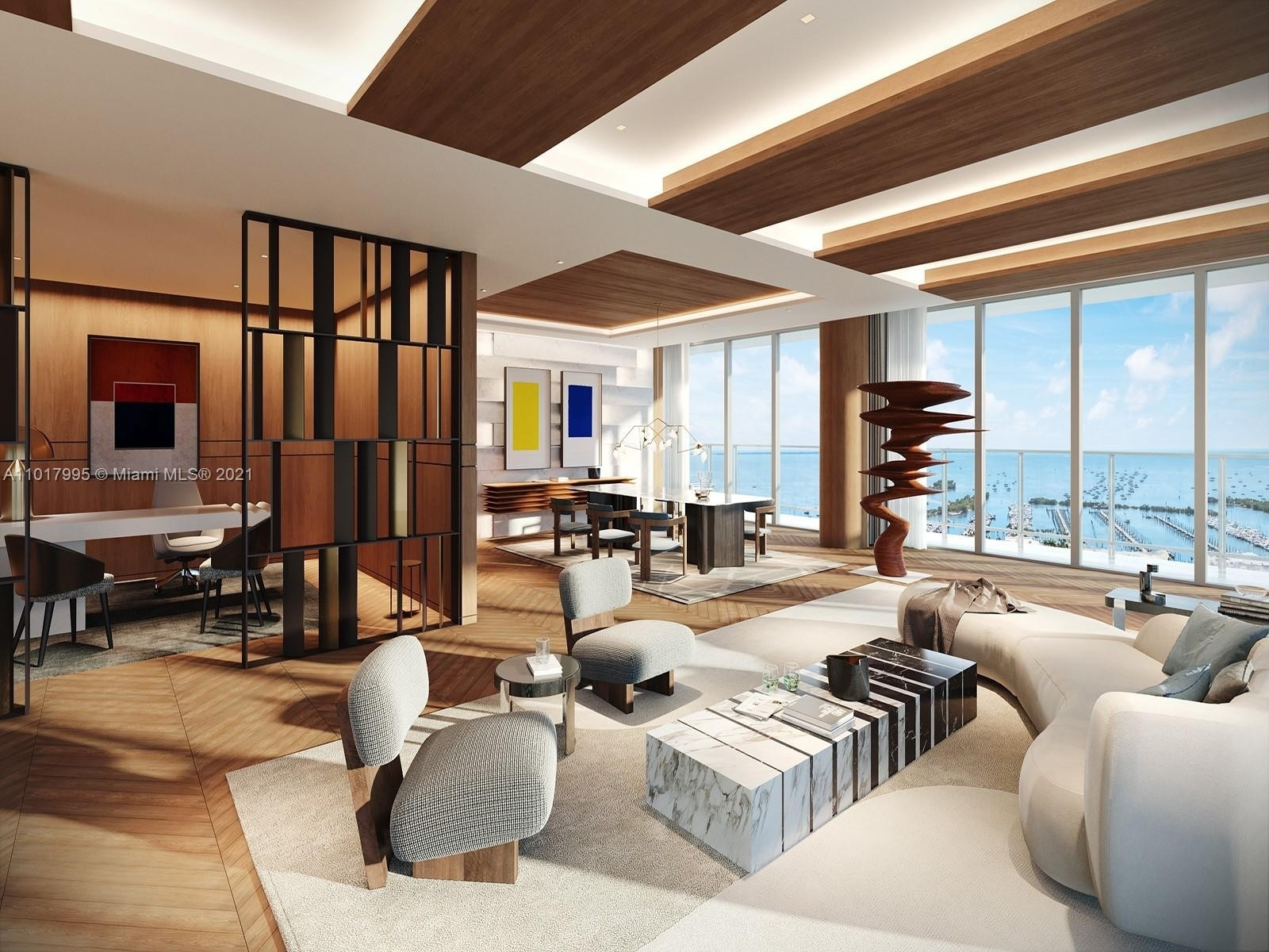 Condominium por un Venta en 2675 S Bayshore Dr , PH-01S The Grove, Miami, FL 33133