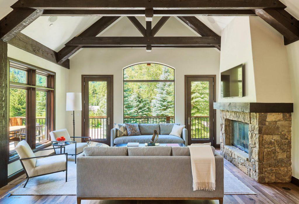 Aspen ski rentals - 42553 HWY 82 - Living Room