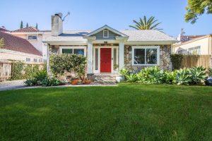 LA house with red door