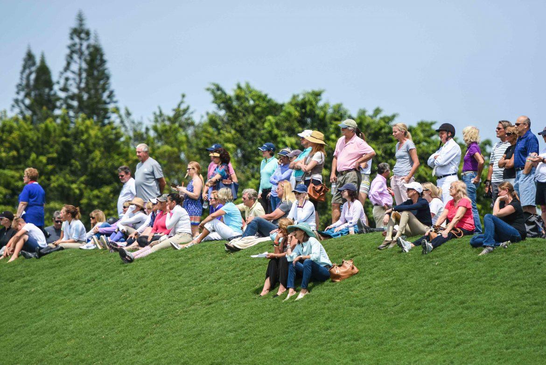 WEF spectators - Wellington, Farm Stand