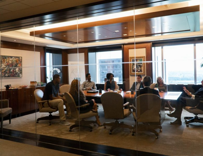 NBA players Derrick Favors and Malcolm Miller met with Douglas Elliman executives as part of the NBA Career Crossover Program.