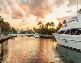 Fort Lauderdale canal view, USA