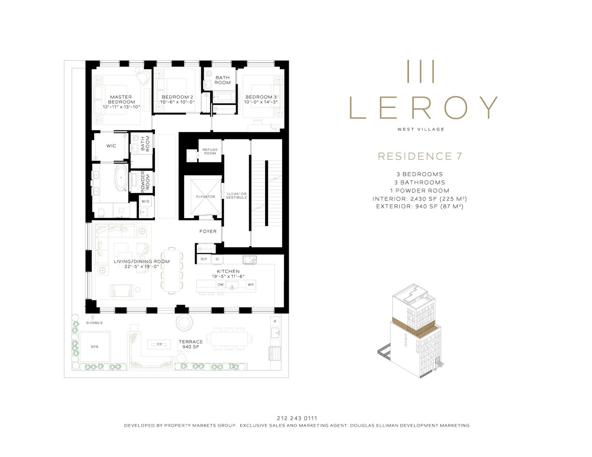 1. Condominiums for Sale at 111 Leroy St, 7 West Village, New York, NY 10014
