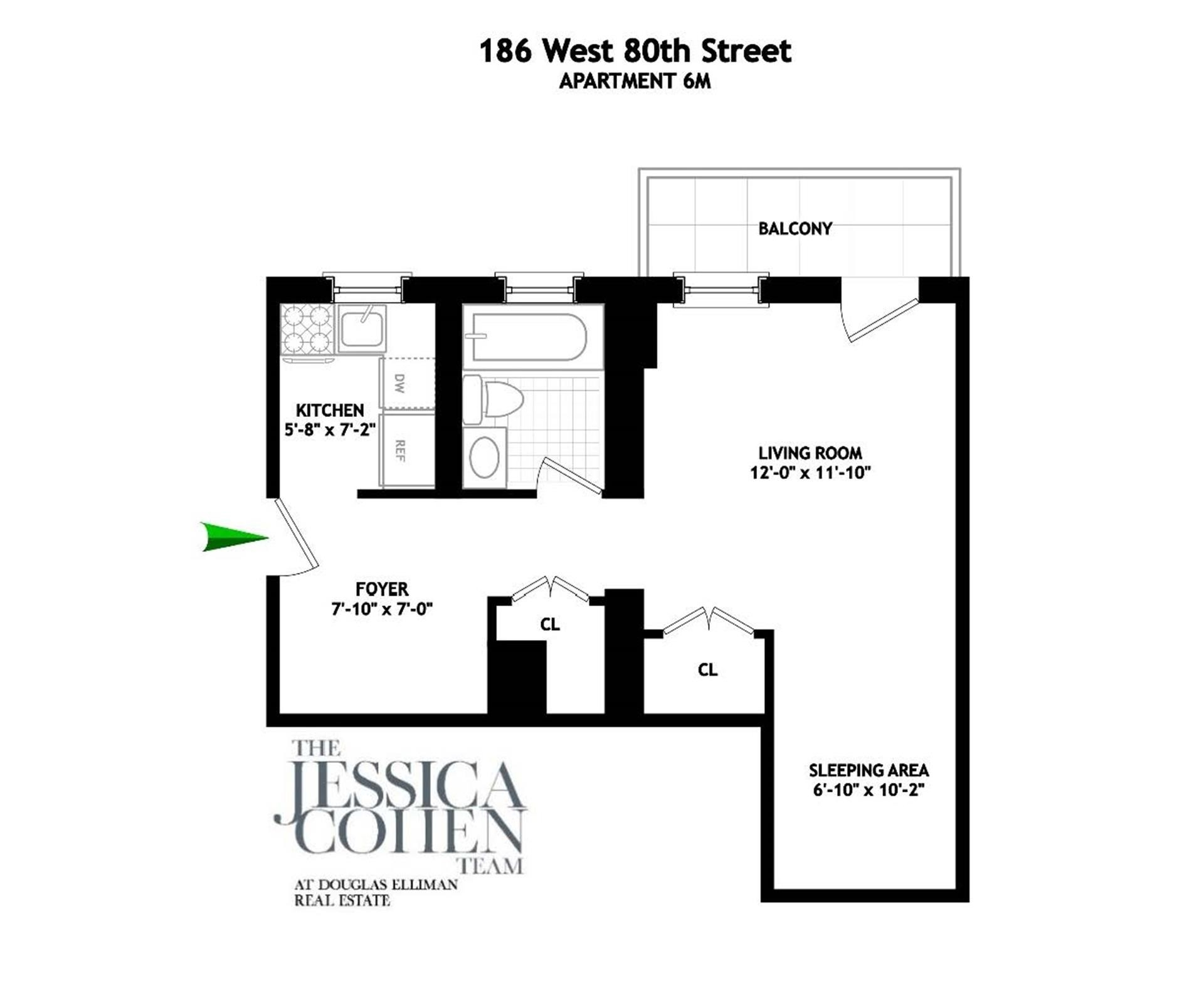 1. Condominiums for Sale at 186 West 80th St, 6M Upper West Side, New York, NY 10024