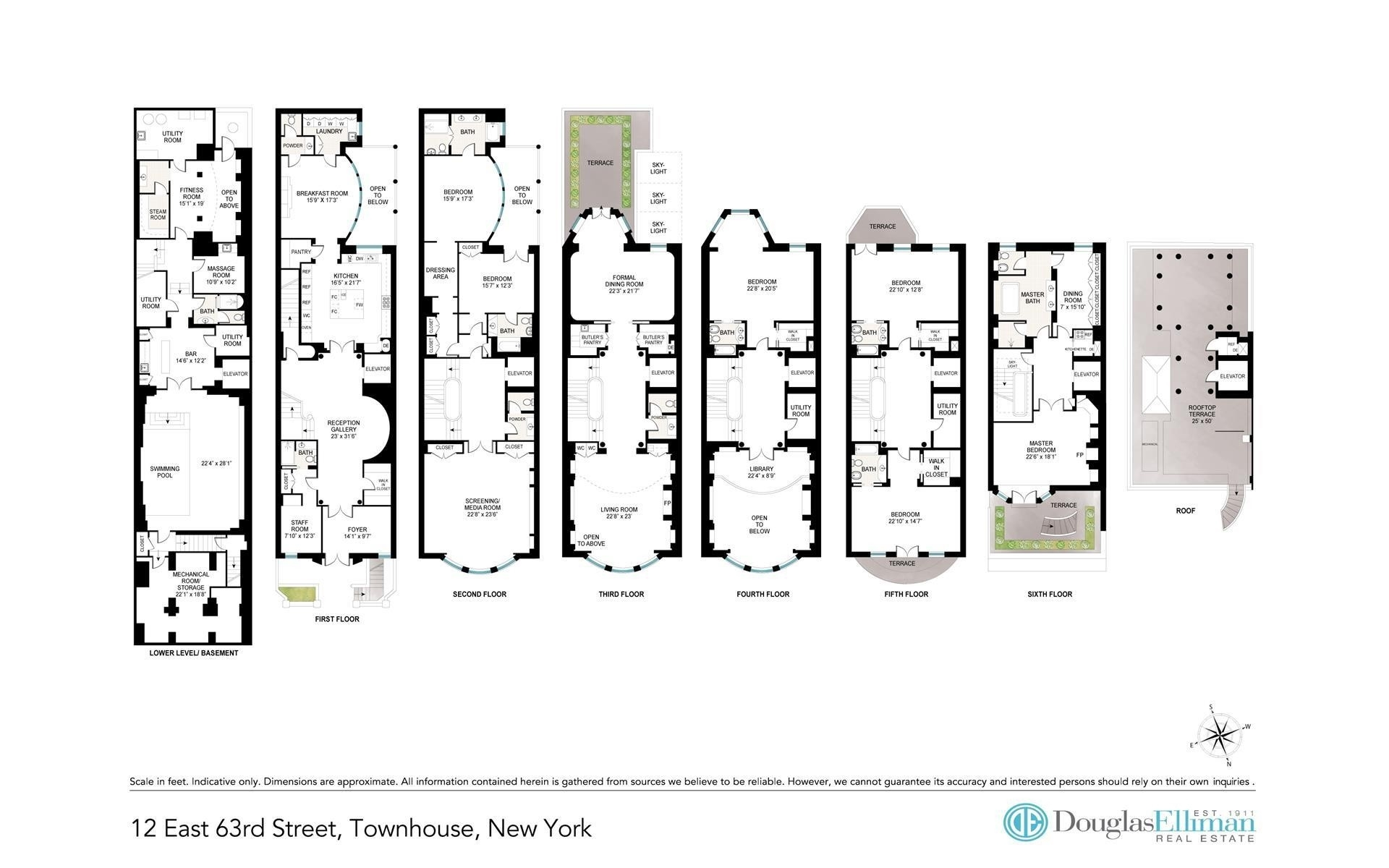 1. Single Family Townhouse for Sale at 12 E 63RD ST , TOWNHOUSE Lenox Hill, New York, NY 10065