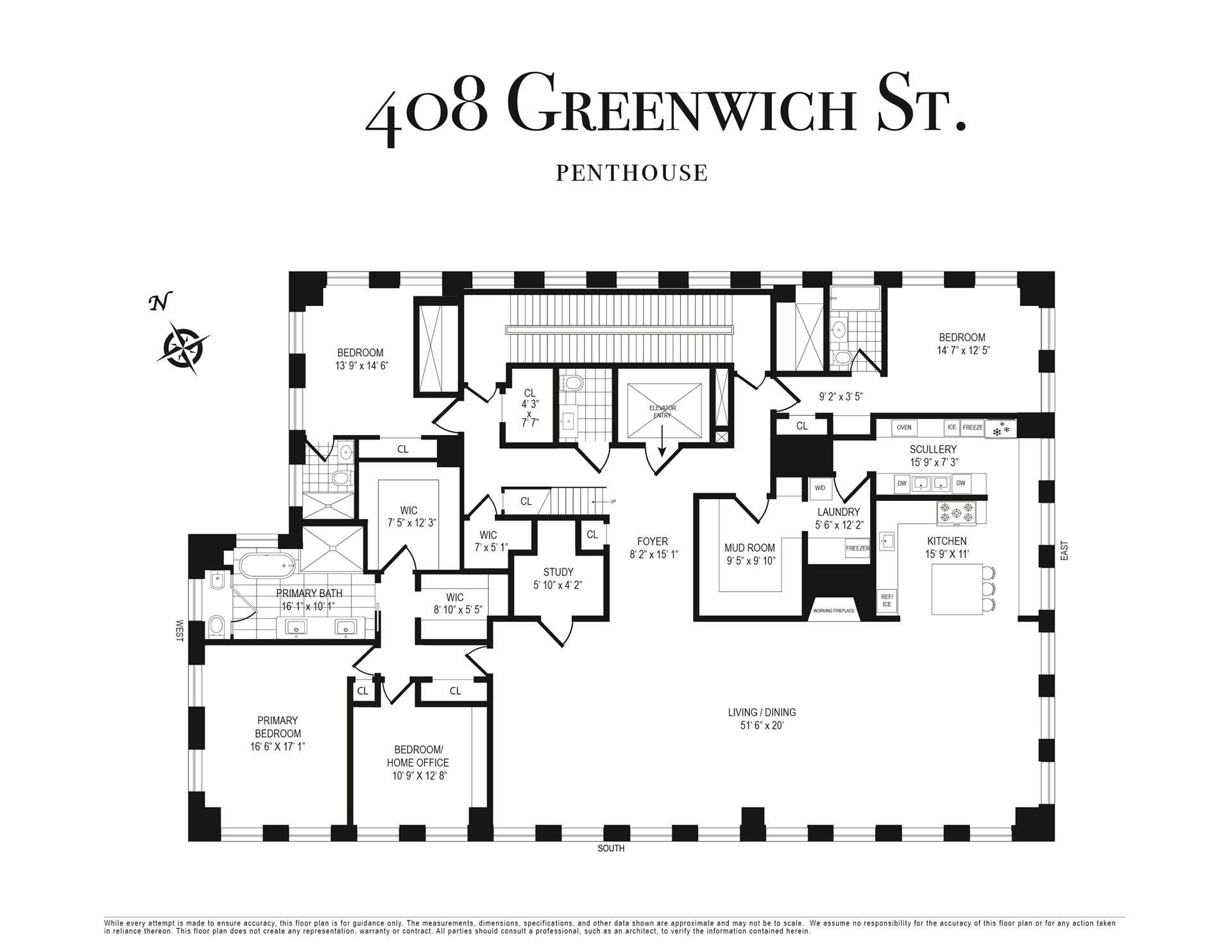 1. Condominiums for Sale at 408 GREENWICH ST , PH TriBeCa, New York, NY 10013