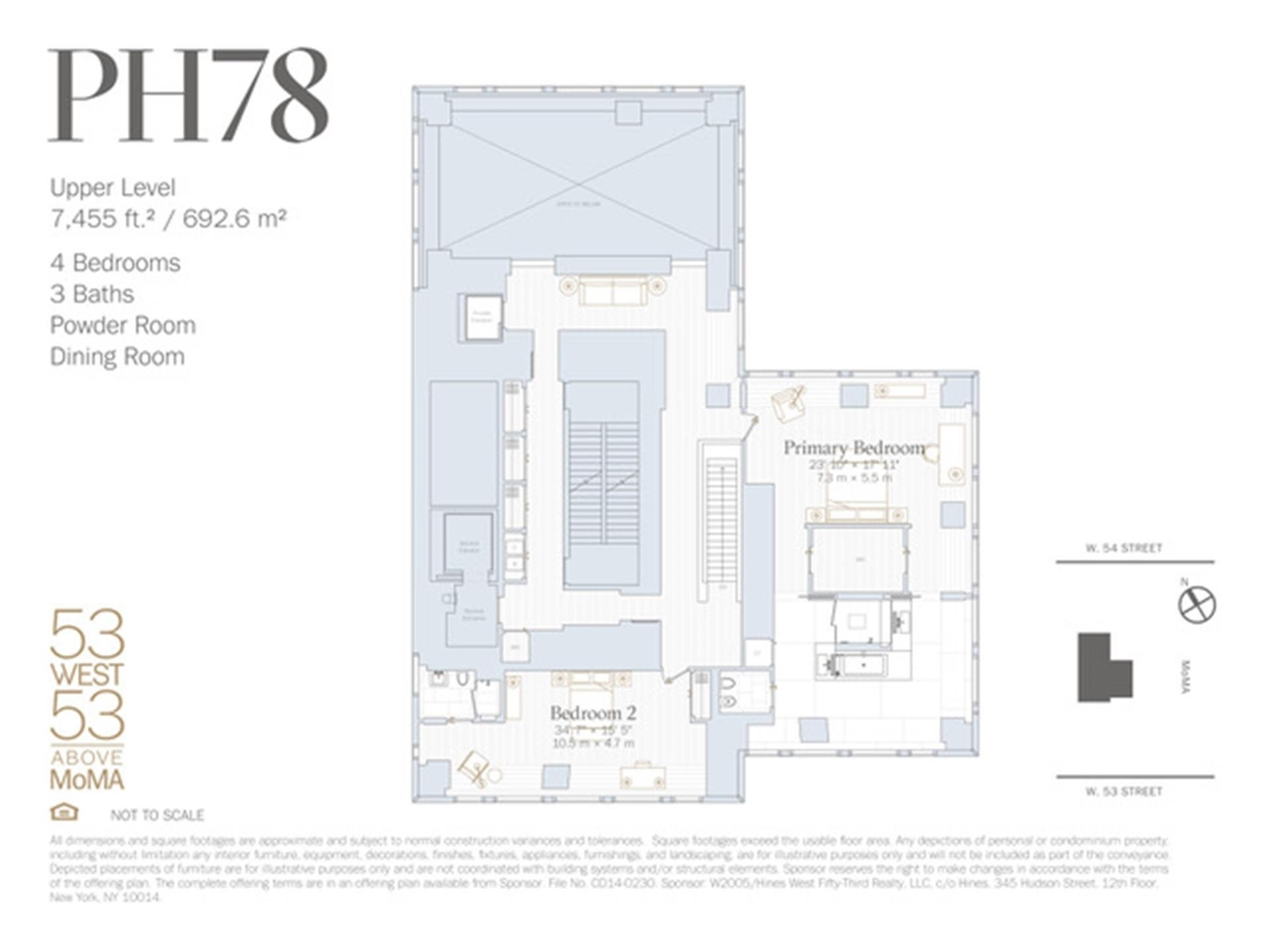2. Condominiums pour l Vente à 53W53, 53 53RD ST W, PH78 Midtown West, New York, NY 10019