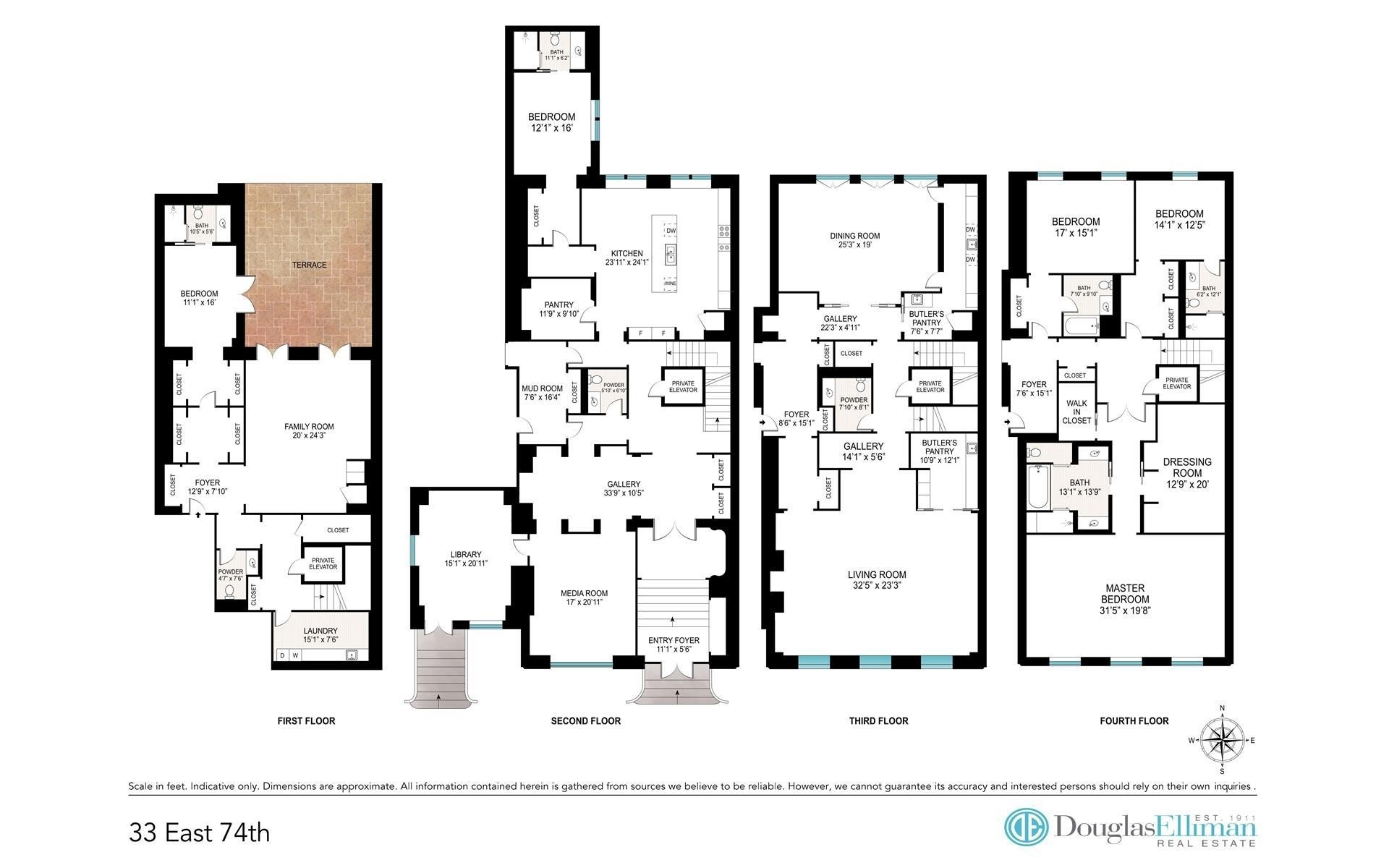 1. Condominiums for Sale at 33 East 74th St, TH Lenox Hill, New York, NY 10021