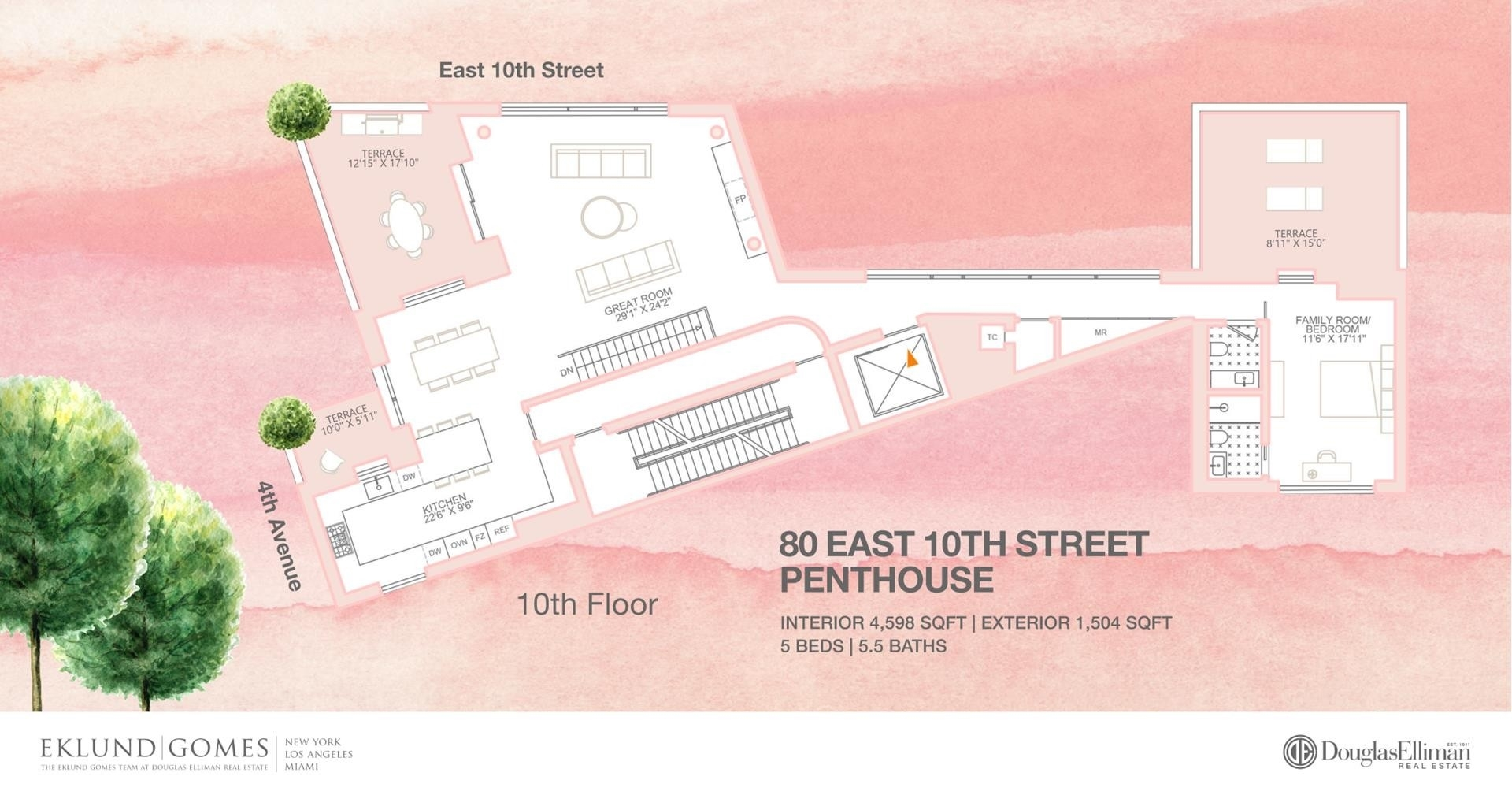 1. Condominiums for Sale at 80 E 10TH ST , PH East Village, New York, NY 10003