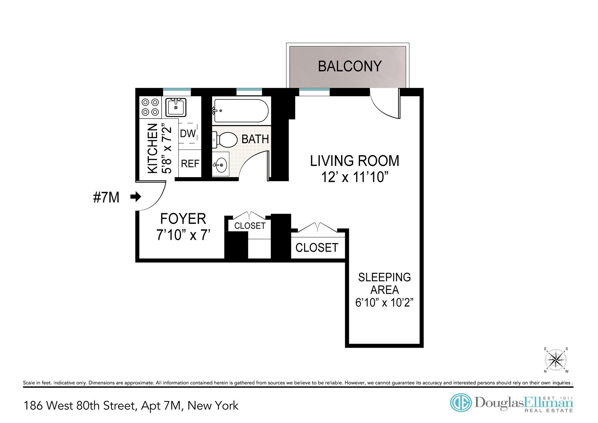 1. Condominiums for Sale at 186 West 80th St, 7M Upper West Side, New York, NY 10024