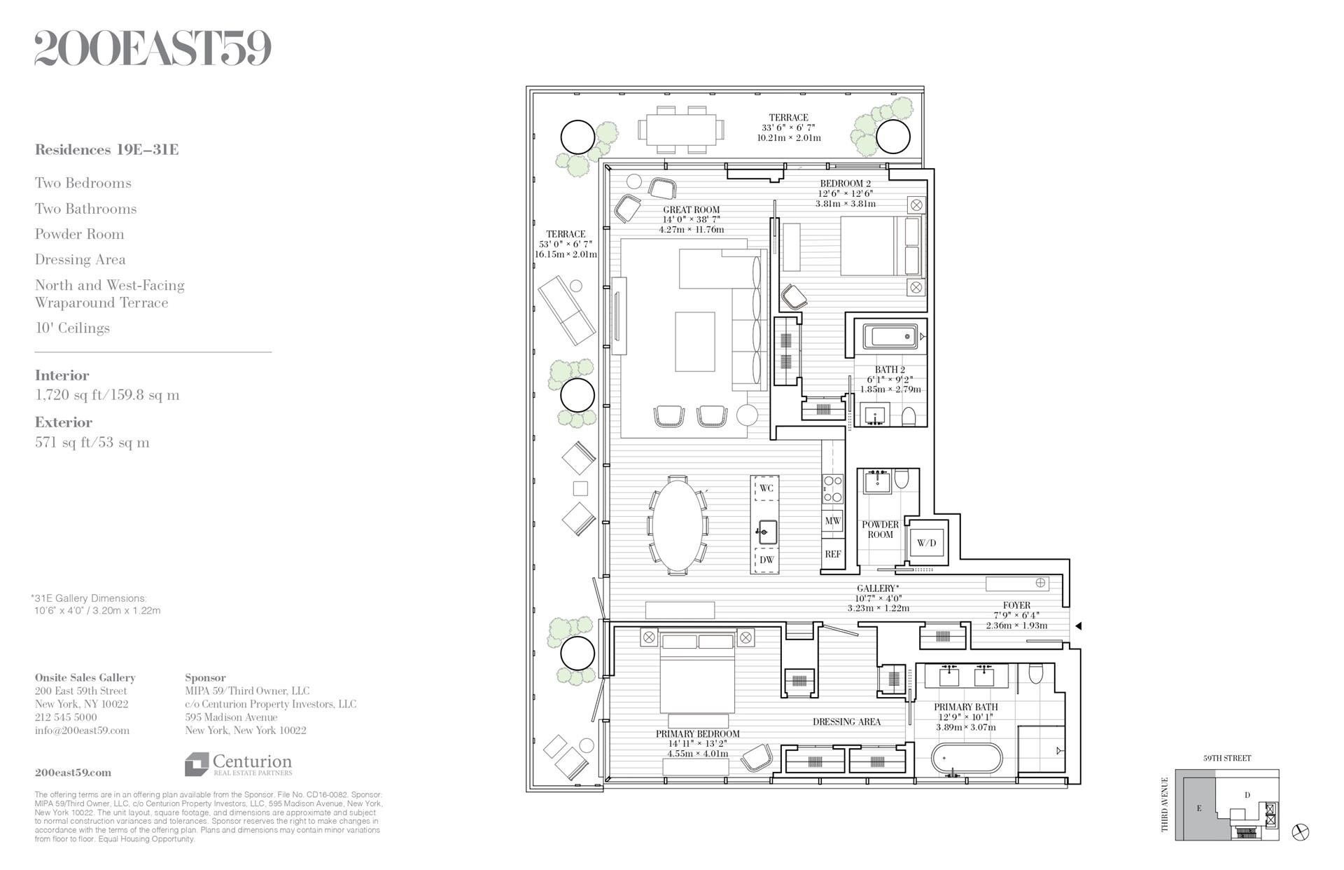 1. Condominiums for Sale at 200 East 59th St, 19E Midtown Manhattan, New York, NY 10022
